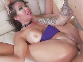 Tanned milf roughly fucked surrounding back door style