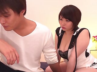 Japanese gal, Miu Yuuki is getting her coochie ate and congested up with a stiff boner