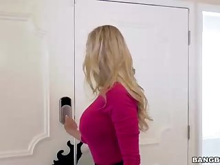 Buxom blond cougar, Brandi Enjoy is getting a youthful guy's firm fuck-stick, from the back