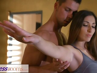 Fitness Rooms Private yoga class after workout for MILF