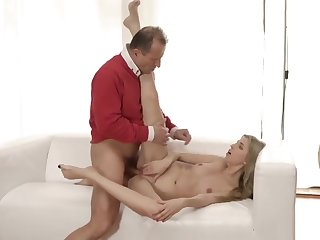 German old gangbang Stranger in a large building knows how to hot you up