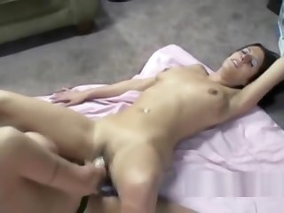 Busty Lavender takes a strapon from a mature slut