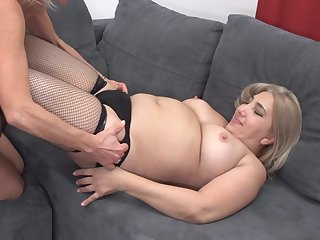 Mature lesbian threesome with Ilana Z. and Nadya S.