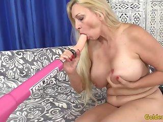GILF Cala Craves Orgasmic Machine Sex