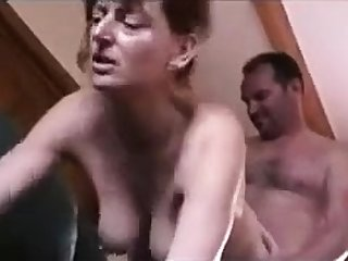 FRENCH MATURE 34 brunette mature threesome
