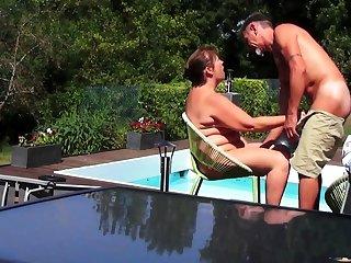 Helene by the pool