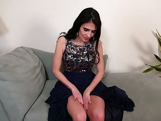 Sexy mature woman Theresa Soza is masturbating her wet insatiable slit