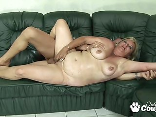 BBW blondie grandma gets stabbed by monster meat rod