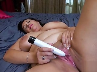 Titted USA Wife loves little vibrators PornerBros