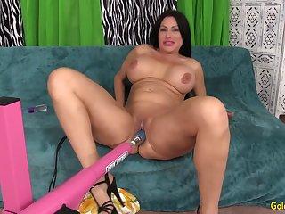 Sexy Mature Sheila Marie Rides a Machine