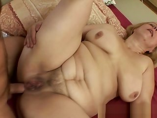 Fat Mature Blonde Loves To Ride