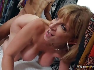 Lil D fucked blonde busty MILF Sara Jay in the store