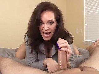 Busty Tits and Raunchy MILF Handjob Porn