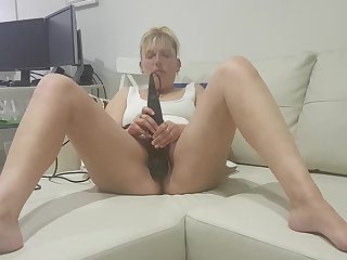 Raunchy mature with multiple orgasm