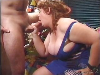 Mature bbw with big tits enjoys getting her hairy pussy drilled hardcore