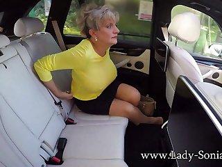 Big Milf Tits On Show In The Car - LadySonia