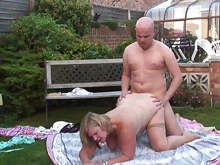 fat granny Lacey Starr outdoor porn video