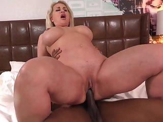Pretty Big Rear Girl getting Plowed then she Piss on Dude