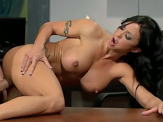 Jade Jewels Office Hump With Hunk - busty brunette MILF