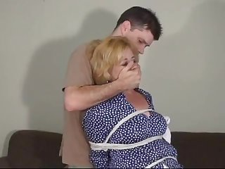 Lewd mature land lady was ready for some horny bondage workout