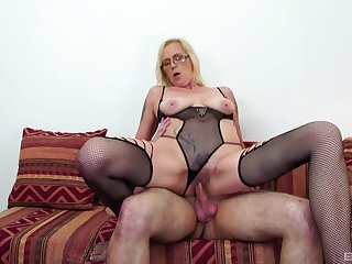 Blonde MILF was hungry for cum, and she got her fill and more