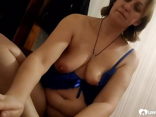 Fat aunt gets a cock inside of her