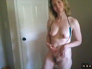 Amateur Mature Sucks A Male Pole And Dildo