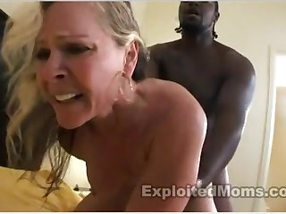 Muscle Cougar Enjoying A Black Penis