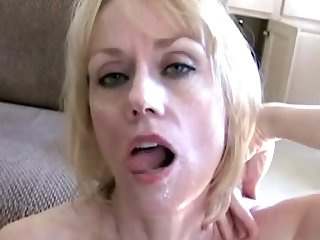 Mature wife spreads her legs to be fucked by a large manhood