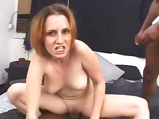 White Mommy Gets Nailed By Two Big Black Guys