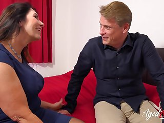 AgedLovE British Mature with Huge Titties Hard Core