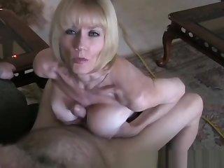 POV Sex With Horny Amateur GILF Granny