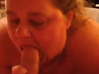 That's one hungry obese woman and she loves to suck a dick on camera