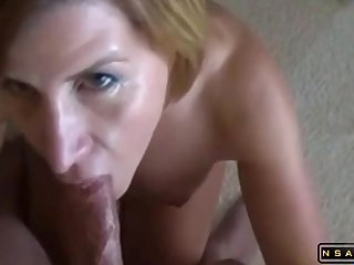 Amateur Swedish Wife Gives Blowjob And Gets Facialized