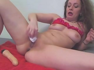 Hardcore solo toy playing with Carmen Zen
