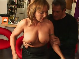 Seasoned snatch Jazebel with pierced nipples fucked by a huge wang