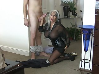 Large-Breasted Mature In Leather Screwing - Sally d'angelo