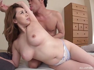 Kazama Yumi gets her cunt licked clean and drilled for all its worth
