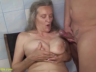 Ugly busty 83 years old mom rough fucked