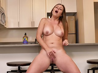 Brandii Banks is a fan of thongs and of masturbating in the kitchen