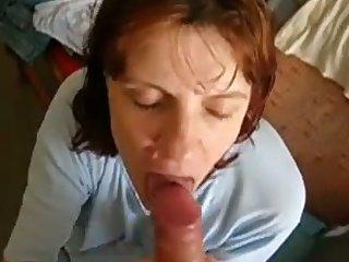 Whorish mature redhead is so happy to suck delicious boner cock