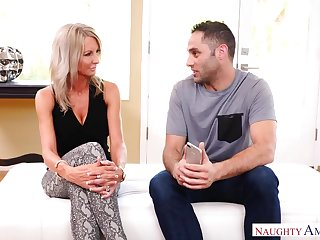 Blonde alluring housewife Emma Starr is poked from behind damn great
