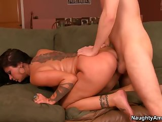 Pleasing brunette Czech MILF Nikita Denise having a hard core fuck