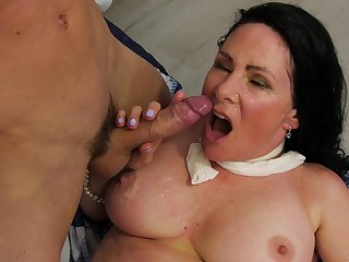 Adult Alexandra Silk makes him jam her big tits with sperm