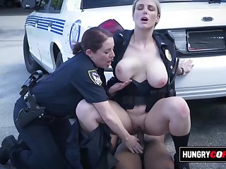 Mature cops take suspect out to alley