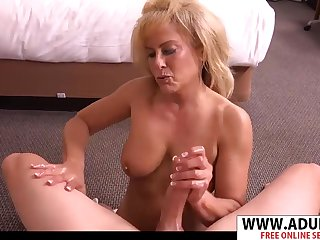 Slim Mother Candy Having Fun With Thick Cock