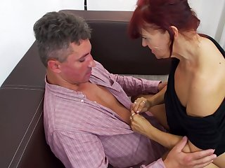 Redhead naughty mature MILF pussy licked and fucked doggy style