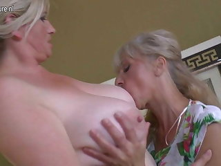 Lesbian group sex with grannies and young girls
