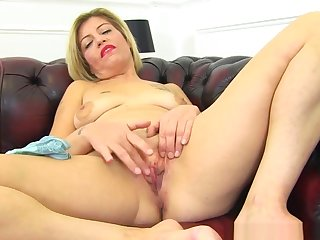 English Milf Filthy Emma Peels Off Her Tight Jeans