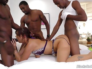 Syren De Mer gets destroyed in interracial gangbang action